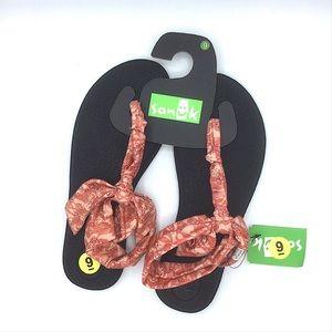 Sanuk NEW! Yoga Pink Sandals Size 9 Patterned